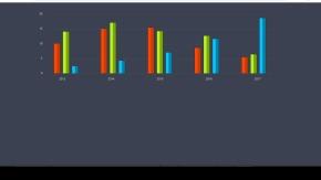 纯CSS3柱形统计图各种统计