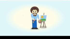 纯css3制作画师绘画动画特效