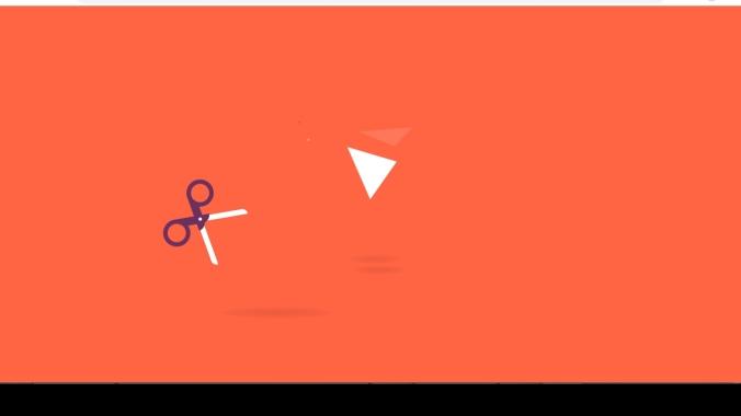 纯css3剪刀剪断纸张动画特效