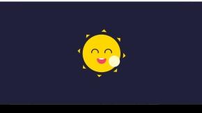 纯css3卡通太阳跟月亮动画特效