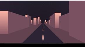 纯css3城市道路穿梭动画特效