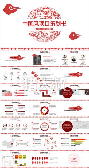 中国风项目策划书 PRESENTED BY素材铺5