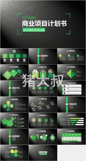 完整的商业项目计划书 BUSINESS PLANPPT模板