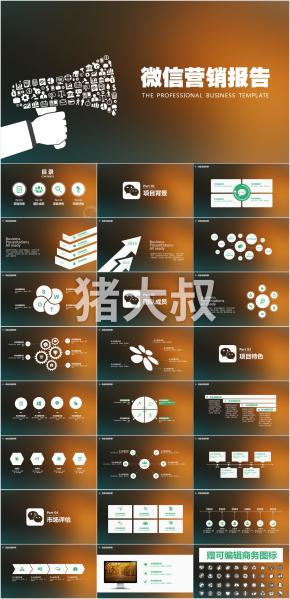 微信营销报告 PPT模板